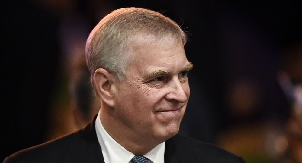 In this file photo taken on November 03, 2019, Britain's Prince Andrew, Duke of York leaves after speaking at the ASEAN Business and Investment Summit in Bangkok, on the sidelines of the 35th Association of Southeast Asian Nations (ASEAN) Summit.
