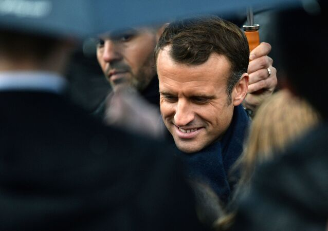 French President Emmanuel Macron attends a commemoration ceremony for Armistice day, 101 years after the end of the First World War, at the Arc de Triomphe in Paris, France November 11, 2019. REUTERS/Johanna Geron