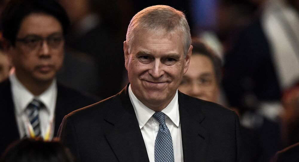 Britain's Prince Andrew, Duke of York leaves after speaking at the ASEAN Business and Investment Summit in Bangkok on November 3, 2019, on the sidelines of the 35th Association of Southeast Asian Nations (ASEAN) Summit