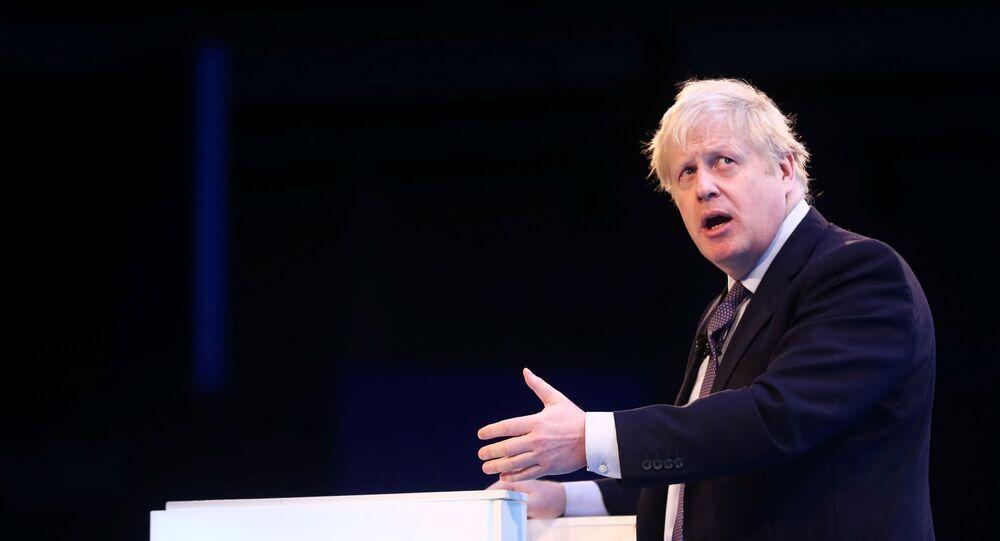 Britain's Prime Minister Boris Johnson speaks at the annual CBI Conference in London, Britain November 18, 2019