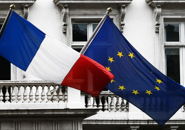 Flag of France and EU