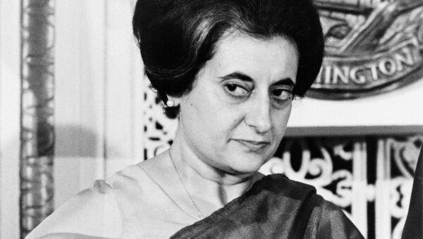 Indian Prime Minister Indira Gandhi (1917-1984) at the National Press Club, Washington, DC, US in 1966. - Sputnik International