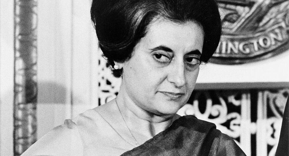 Indian Prime Minister Indira Gandhi (1917-1984) at the National Press Club, Washington, D.C. 1n 1966
