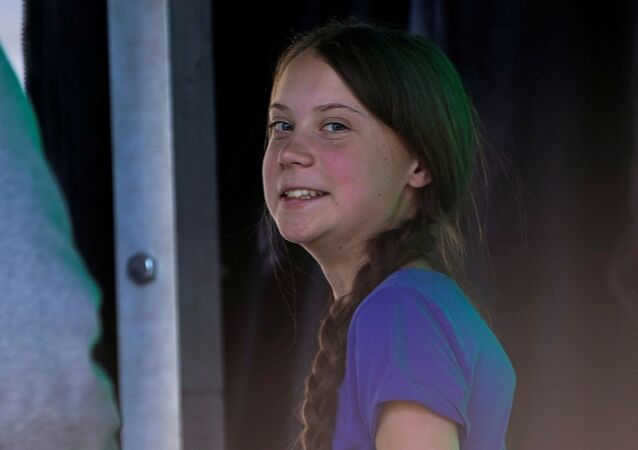 Swedish teen climate activist Greta Thunberg attends a march and rally at the Youth Climate Strike in Los Angeles, California, U.S., November 1, 2019