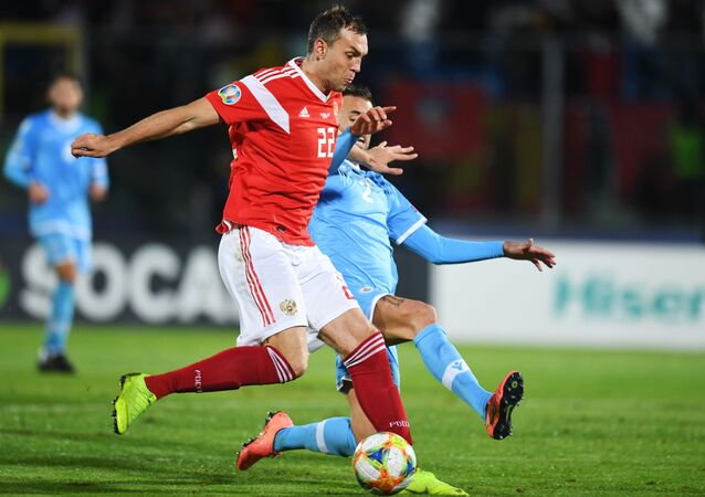 The Russian national football team won its last UEFA Euro 2020 qualifying match, defeating San Marino with a final score of 5-0