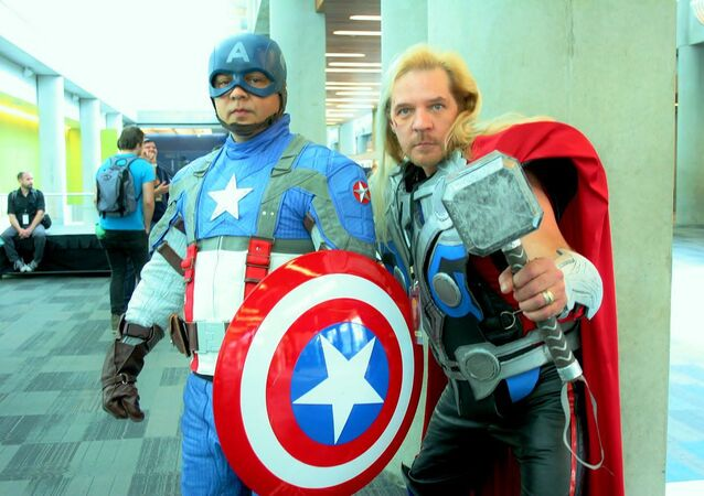 Captain america & thor cosplay