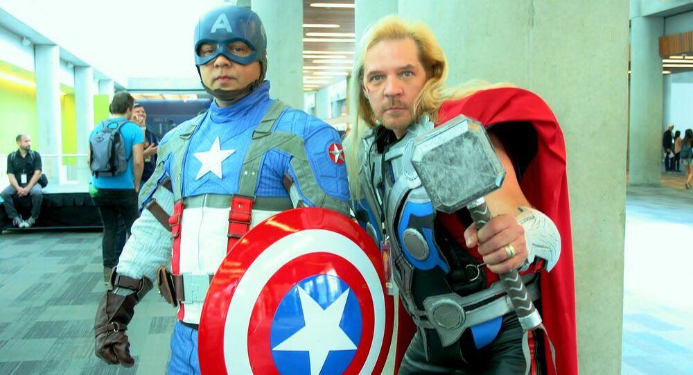 Captain america & thor cosplay