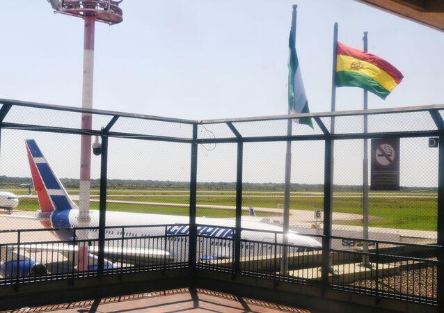 An aircraft of Cubana Airlines is seen at the Viru Viru International Airport in Santa Cruz, Bolivia Novemver 16, 2019