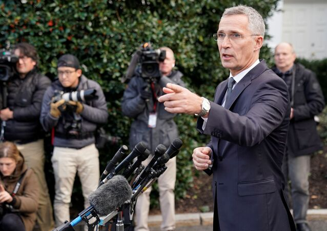 NATO Secretary General Jens Stoltenberg speaks to reporters after meeting with U.S. President Donald Trump at the White House in Washington, U.S. November 14, 2019