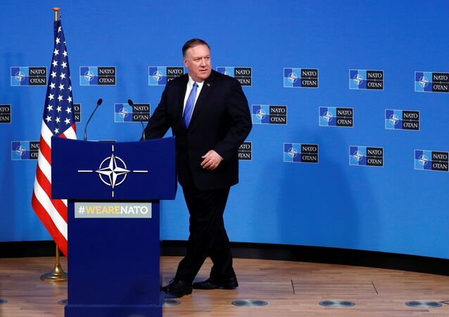U.S. Secretary of State Mike Pompeo arrives to hold a news conference at the Alliance headquarters in Brussels, Belgium November 20, 2019.