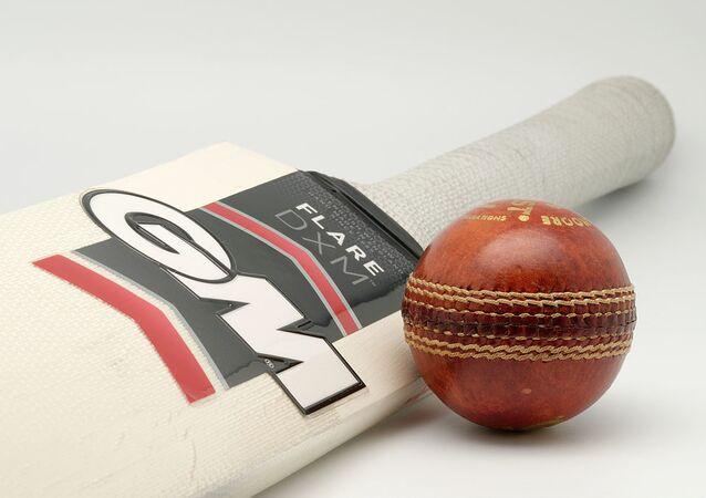 A Gunn & Moore Flare DXM bat (Harrow size) and a Gunn & Moore Purist 156g cricket ball.