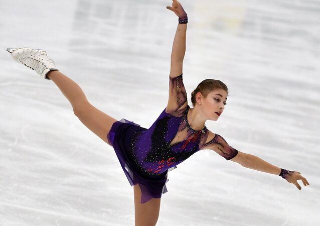 Alena Kostornaia during free skating programme at Finlandia trophy