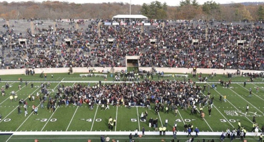 Harvard-Yale annual football game disrupted by climate activists, 23 November, 2019