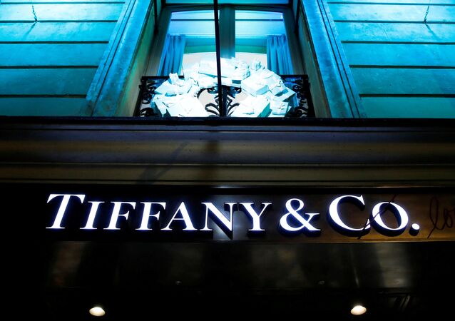 A Tiffany & Co. logo is seen outside a store in Paris, France, November 22, 2019