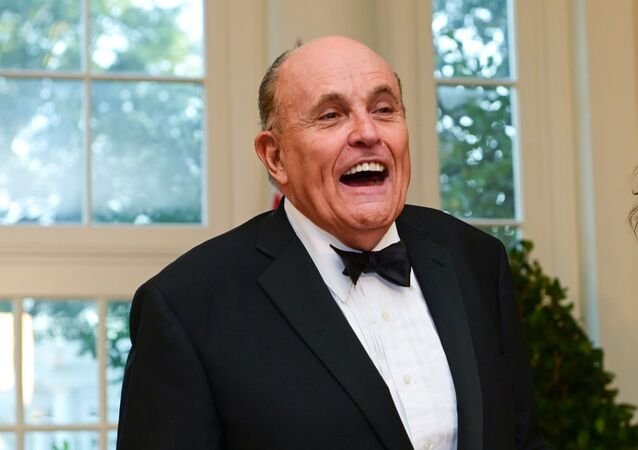Rudy Giuliani at the White House in Washington