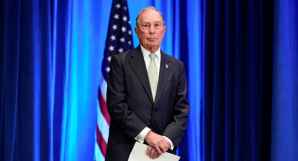 Democratic U.S. presidential candidate Michael Bloomberg waits to address a news conference after launching his presidential bid in Norfolk, Virginia, 25 November 2019