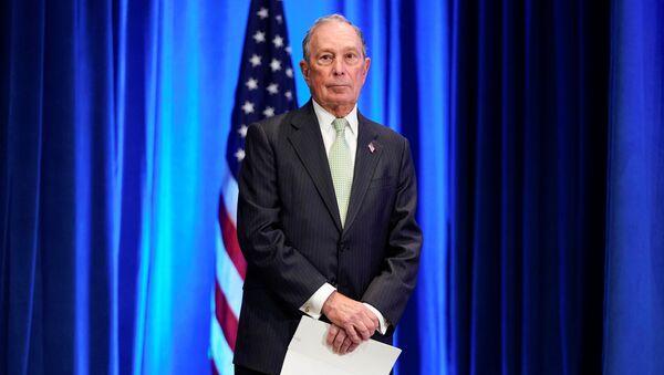 Democratic U.S. presidential candidate Michael Bloomberg waits to address a news conference after launching his presidential bid in Norfolk, Virginia, U.S., November 25, 2019 - Sputnik International