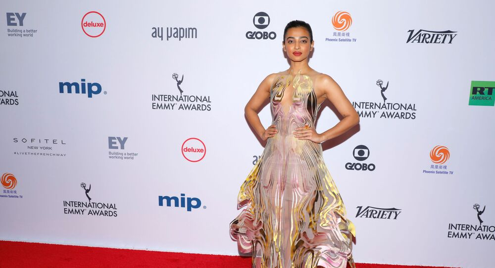 Indian actor Radhika Apte arrives for the 47th International Emmy Awards in New York City, U.S., November 25, 2019