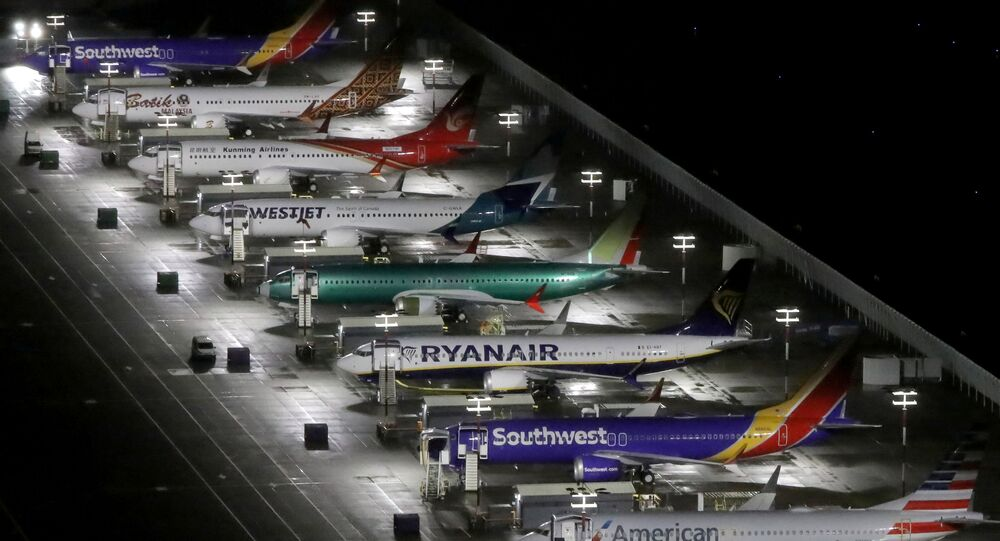 Boeing 737 Max airplanes at Boeing Field in Seattle, Washington