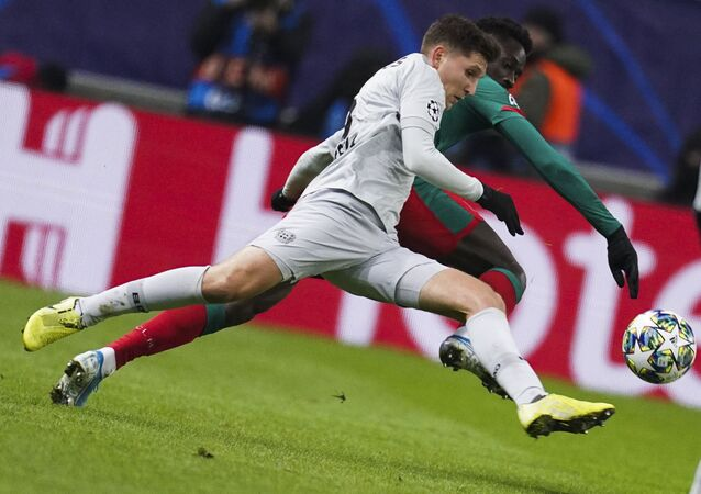 The UEFA Champions League. The Russian football club Lokomotiv Moscow against Germany's Bayer Leverkusen.