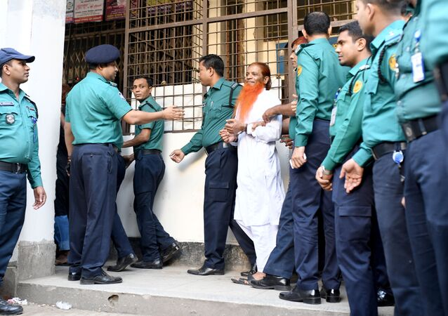 One of the accused of Holey Artisan Bakery attack is led to the court in Dhaka, Bangladesh, November 27, 2019