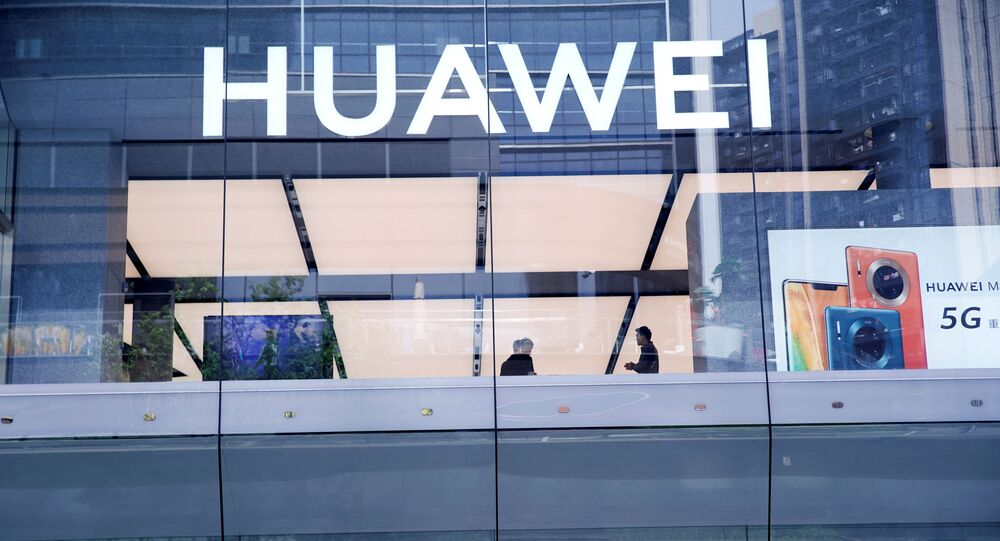 Huawei's first global flagship store is pictured in Shenzhen, in China's Guangdong province on 30 October 2019