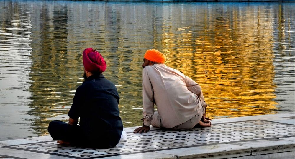 The turban is worn by members of the Sikh diaspora living in India.