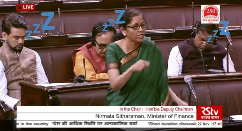 Video of Indian Parliamentarians Asleep During Finance Minister's Economy Speech Goes Viral