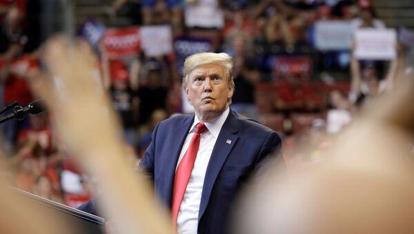 US President Donald Trump holds a campaign rally in Sunrise, Florida, U.S., November 26, 2019. - Sputnik International