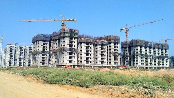 NGO housing under construction in Amaravati (March 2019) - Sputnik International
