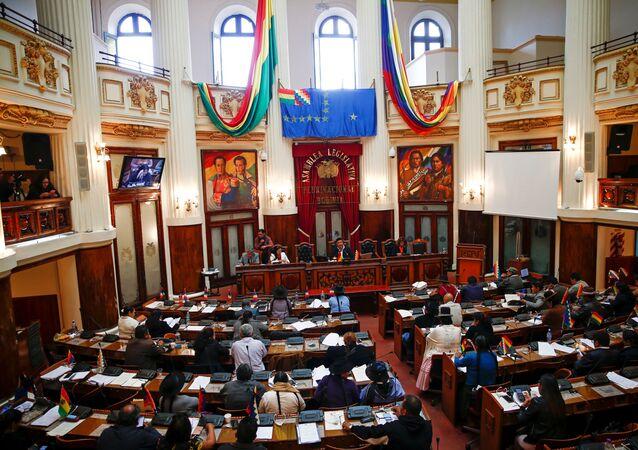 Congress session in La Paz, Bolivia