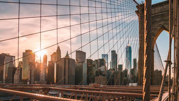 A view from the Brooklyn Bridge on New York - Sputnik International