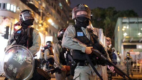 Hong Kong Riot Police Officers - Sputnik International