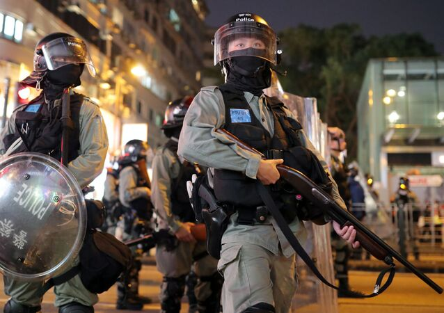 Hong Kong Riot Police Officers