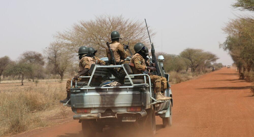 Soldiers in the Sahel area of Burkina Faso