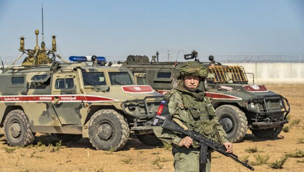 Russian military police near the town of Darbasiyah in Syria's northeastern Hasakeh province - Sputnik International