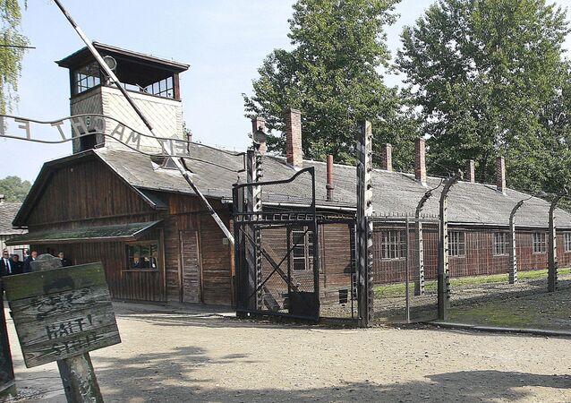 The former German Nazi death camp of Auschwitz in Poland