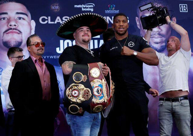 Boxing - Andy Ruiz Jr & Anthony Joshua Press Conference - Hilton London Syon Park, London, Britain - September 6, 2019