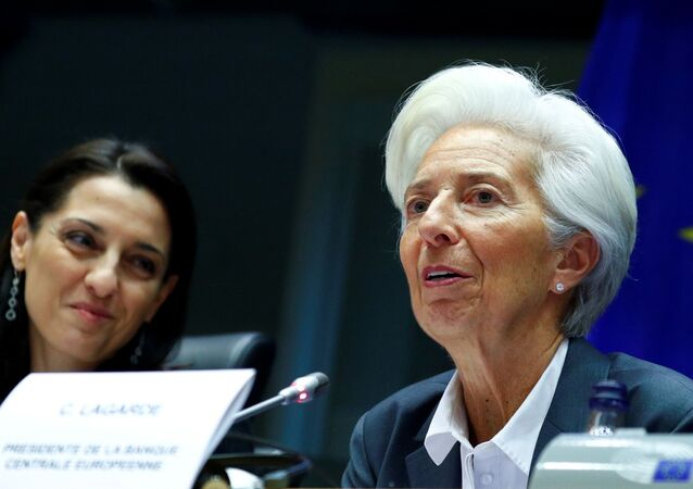 European Central Bank (ECB) President Christine Lagarde testifies before the European Parliament's Economic and Monetary Affairs Committee in Brussels, Belgium December 2, 2019.