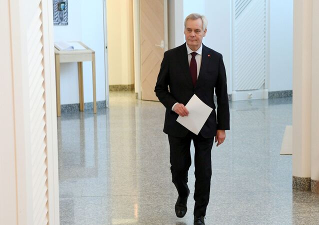 Prime Minister of Finland Antti Rinne arrives to hand over his resignation to President Sauli Niinistö at the President's official residence Mäntyniemi in Helsinki, Finland December 3, 2019