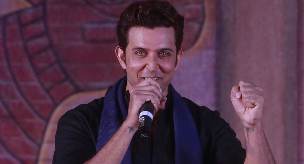 Bollywood actor Hrithik Roshan speaks during an event to promote his upcoming film Mohenjo Daro in Mumbai, India, Tuesday, July 12, 2016. The film is scheduled for release on August 12, 2016