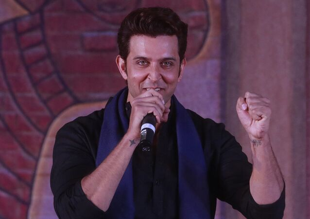 Bollywood actor Hrithik Roshan speaks during an event to promote his upcoming film Mohenjo Daro in Mumbai, India, Tuesday, 12 July 2016.
