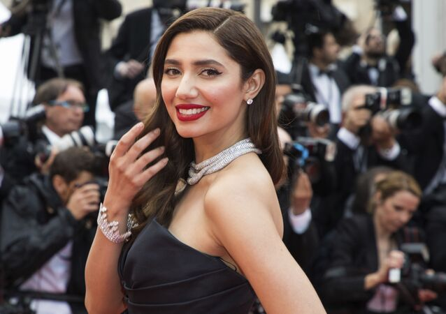 Mahira Khan poses for photographers upon arrival at the premiere of the film 'BlacKkKlansman' at the 71st international film festival, Cannes, southern France, Monday, May 14, 2018