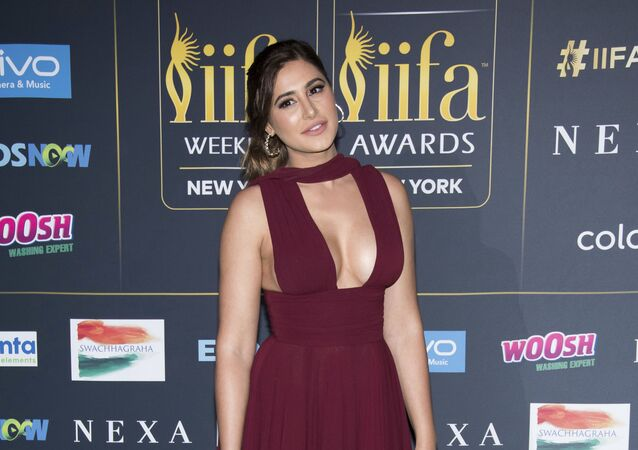 Nargis Fakhri attends the 2017 International Indian Film Academy Festival's IIFA Awards at MetLife Stadium on Saturday, July 15, 2017, in East Rutherford, N.J.