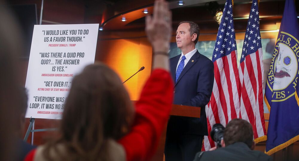 U.S. House Intelligence Committee Chairman Adam Schiff (D-CA) takes questions during a news conference with Capitol Hill reporters ahead of a committee vote on its findings in the impeachment inquiry into U.S. President Donald Trump on Capitol Hill in Washington, U.S., December 3, 2019.