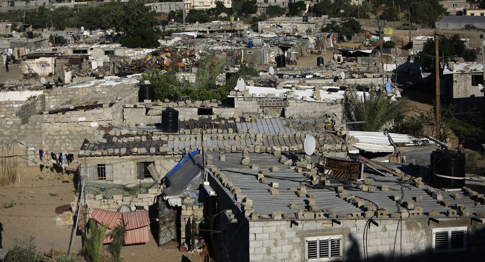 An impoverished area in the southern Gaza Strip refugee camp of Khan Yunis is pictured on May 13, 2019.