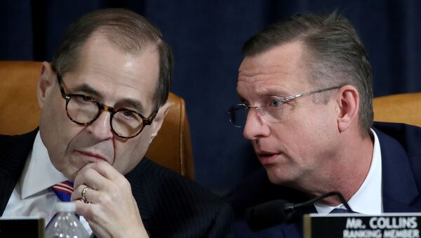 U.S. House Judiciary Committee Chairman Jerry Nadler (D-NY) and ranking member Rep. Doug Collins (R-GA) confer during a House Judiciary Committee hearing on the impeachment Inquiry into U.S. President Donald Trump on Capitol Hill in Washington, U.S., December 4, 2019 - Sputnik International