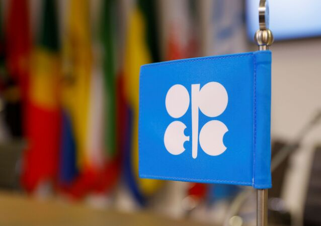 The logo of the Organization of the Petroleum Exporting Countries (OPEC) is seen inside its headquarters in Vienna, Austria, December 7, 2018