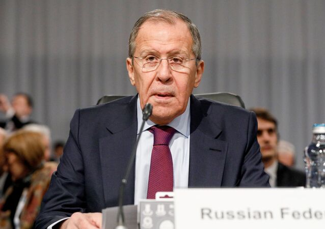 Russian Foreign Minister Sergey Lavrov speaks during the 26th Ministerial Council Meeting of the Organization for Security and Cooperation in Europe, in Bratislava, Slovakia