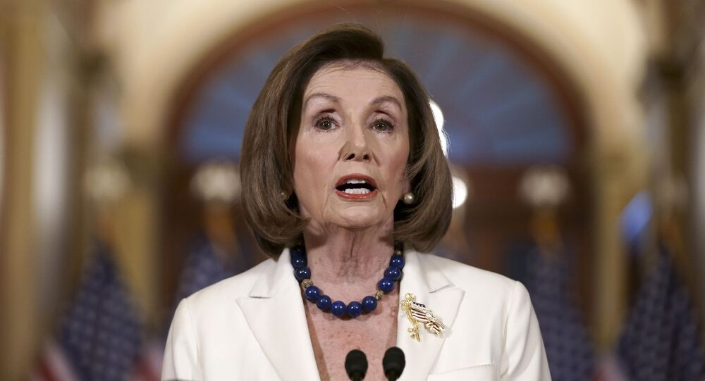 Speaker of the House Nancy Pelosi, D-Calif., makes a statement at the Capitol in Washington, Thursday, Dec. 5, 2019